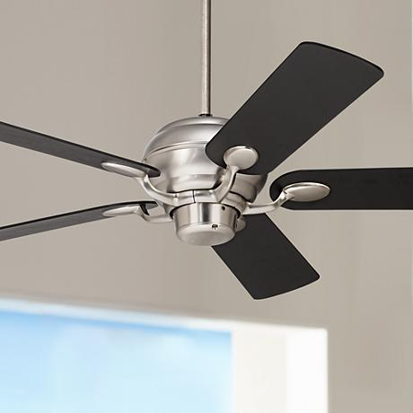 Casa Optima™ Brushed Steel and Espresso Ceiling Fan
