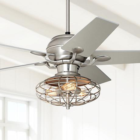 Casa Optima™ Industrial Brushed Steel Ceiling Fan