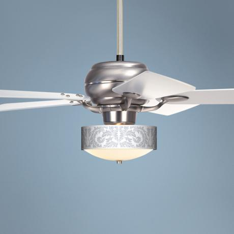 "52"" Casa Optima™ Silver Baroque Ceiling Fan"