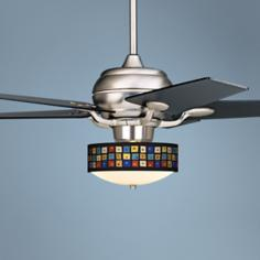 Casa Optima™ Palette Squares Black Blades Ceiling Fan