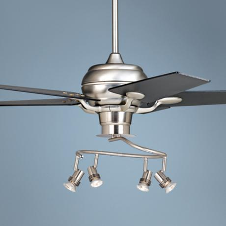 "52"" Casa Optima Black Blade Ceiling Fan with 4-Light Kit"
