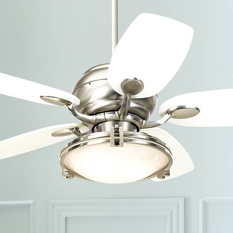 "43"" Casa Optima™ Brushed Steel Ceiling Fan with Remote"