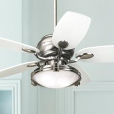 "43"" Casa Vieja Casa Optima™ Brushed Steel Ceiling Fan"
