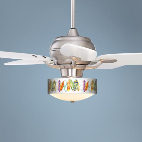 Casa Optima™ Surfboard White Blades Ceiling Fan