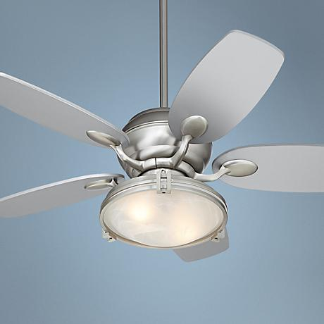 "43"" Casa Optima Marbleized Light Brushed Steel Ceiling Fan"
