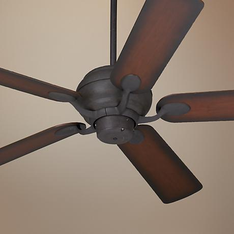 "52"" Casa Vieja® Black Rust and Cherry Finish Ceiling Fan"