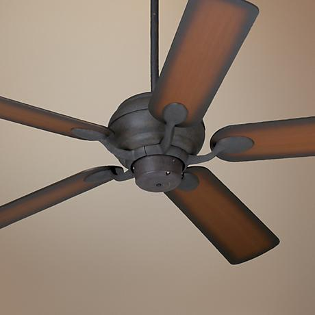 "52"" Casa Vieja® Black Rust ShadedTeak Finish Ceiling Fan"