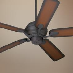 "52"" Casa Vieja® Black Rust and Teak Ceiling Fan"