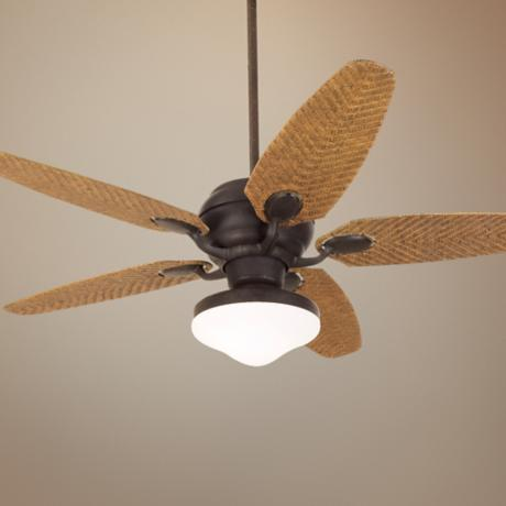 "52"" Casa Optima™ Honey Rattan Ceiling Fan"