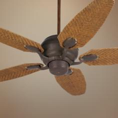 "52"" Casa Optima™ Honey Rattan Blades Ceiling Fan"