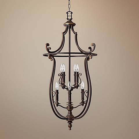 "Hinkley Plymouth 24"" Wide Olde Bronze 8-Light Chandelier"