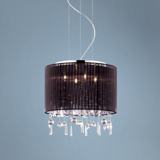 Crystal and Chrome Pendant Chandelier