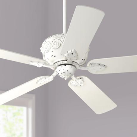 "52"" Casa Deville™ Antique Rubbed White Ceiling Fan"