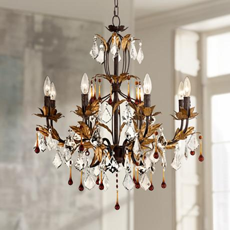 "Kathy Ireland Venezia Gold 8 Light 26"" Wide Chandelier"