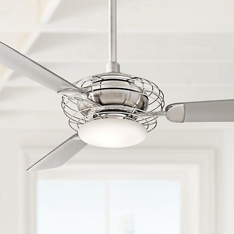 "52""  Minka Aire Acero™ Steel and Nickel Ceiling Fan"