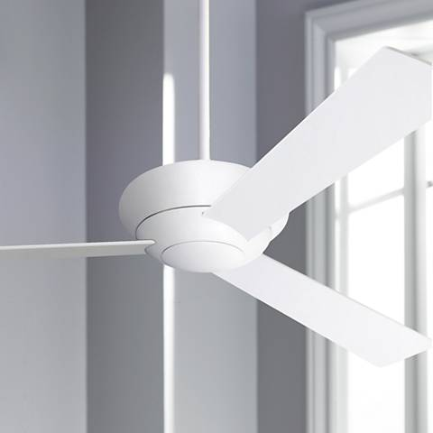 "52"" Modern Fan Company Altus Glossy White Ceiling Fan"