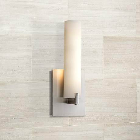 "George Kovacs 13 1/4"" High ADA Compliant Nickel Wall Sconce"