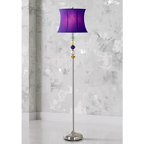 Purple Bijoux Floor Lamp