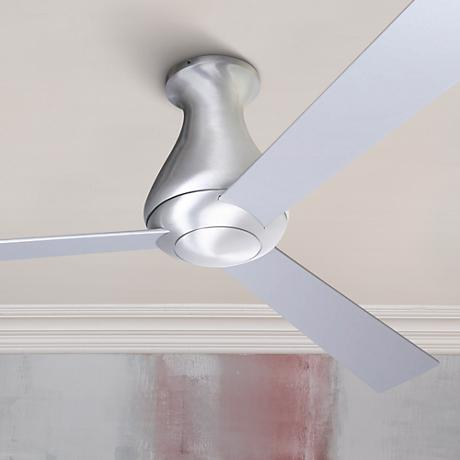 "52"" Modern Fan Altus Aluminum Finish Hugger Ceiling Fan"