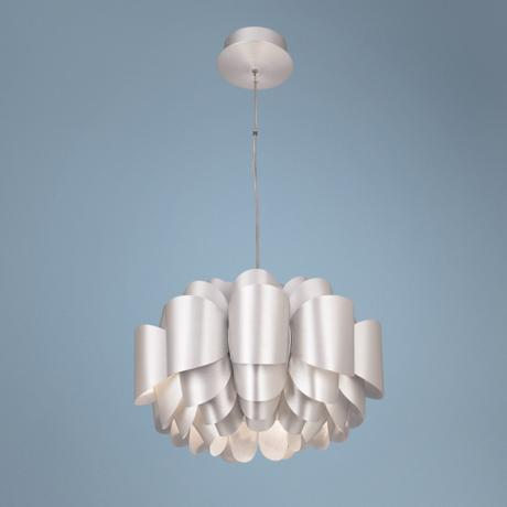 Possini Euro Design Aluminum Lotus Pendant Light