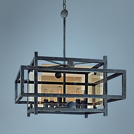 "Crosby 25"" Wide French Iron Pendant Light"