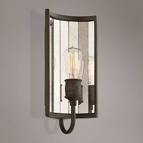 "Brooklyn 14 1/4"" High Brooklyn Bronze Wall Sconce"