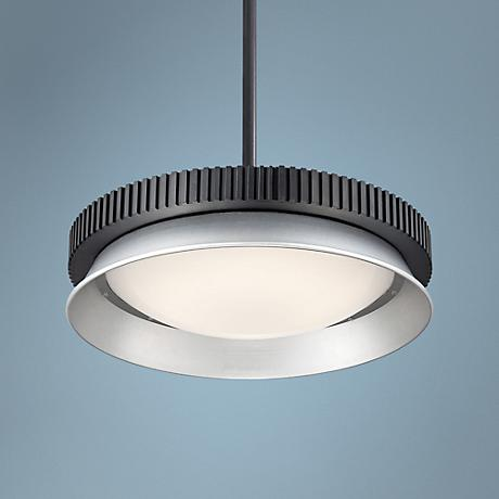 "George Kovacs Gizmo 16"" Wide Black LED Pendant Light"