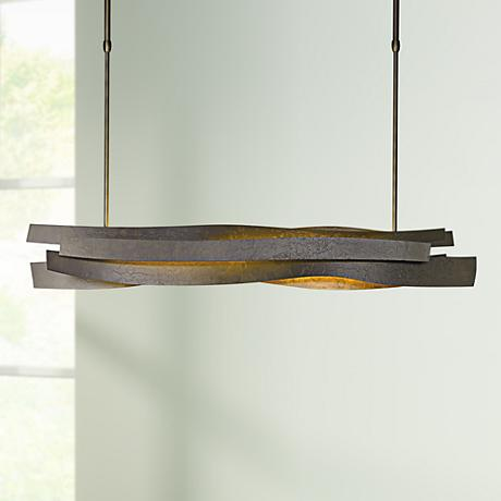 "Landscape 37 1/2""W Dark Smoke LED Pendant Light"