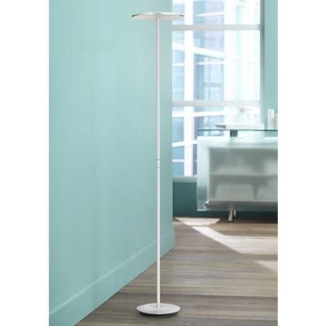Holtkoetter Plano LED Torchiere Floor Lamp Brushed Aluminum