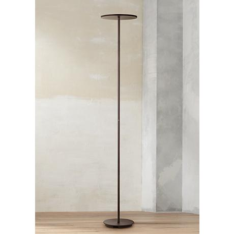 Holtkoetter Plano Bronze LED Torchiere Floor Lamp