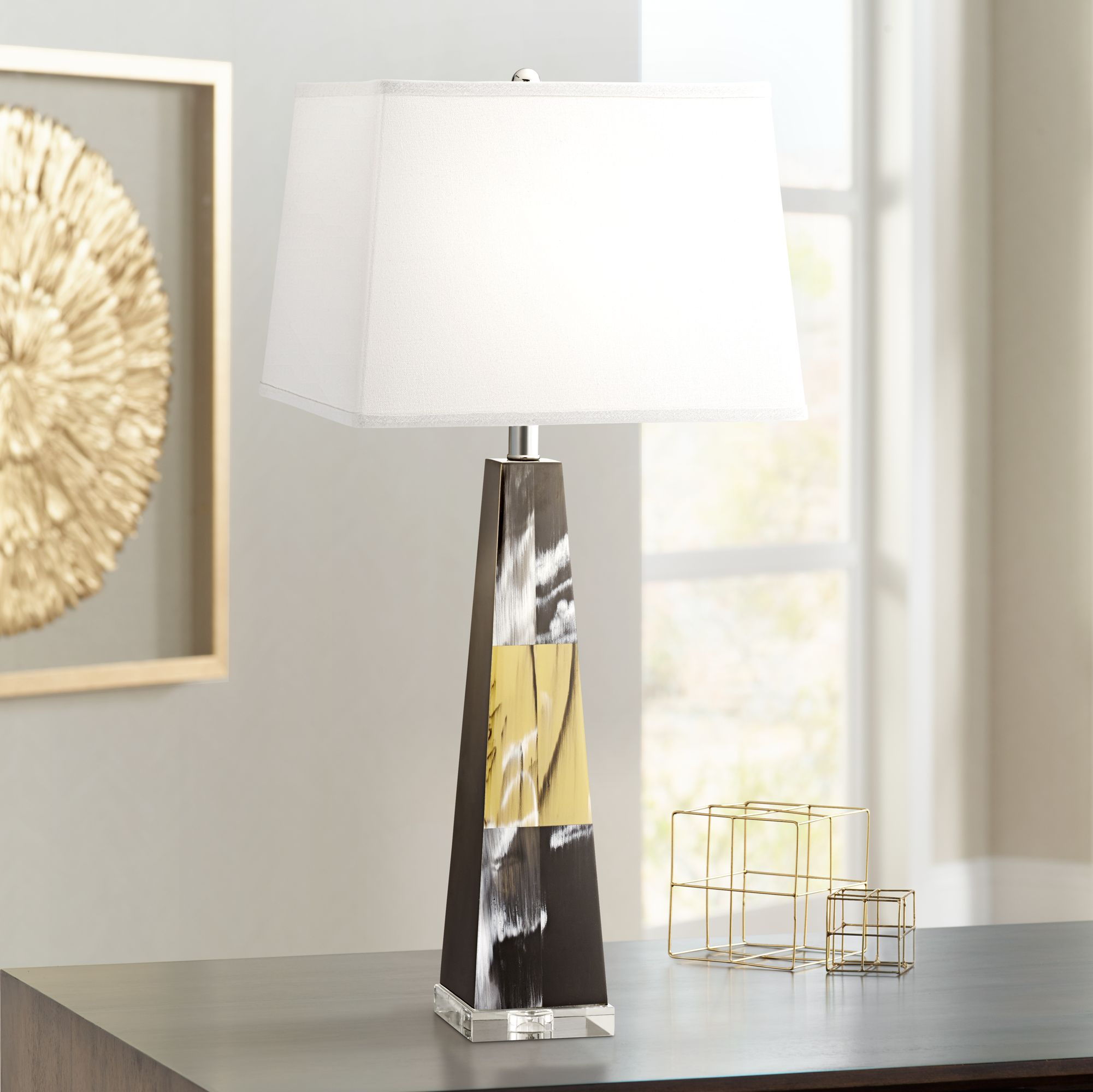 Kathy Ireland Dreamscape Faux Ox Horn Table Lamp