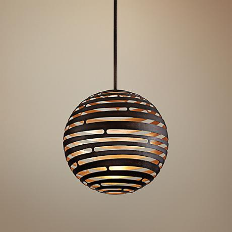 "Corbett Tango 18"" Wide Textured Bronze LED Pendant"