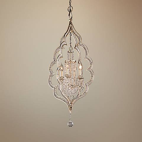 "Corbett Bijoux 20 1/2"" Wide Silver 4-Light Entry Pendant"