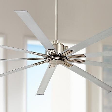 "96"" Minka Aire Xtreme Brushed Nickel Ceiling Fan"