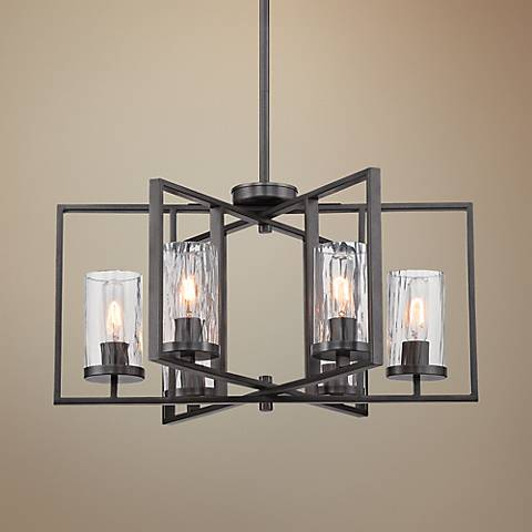 Elements Charcoal 6-Light Chandelier