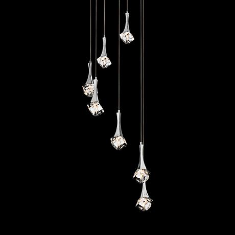 Elan Rockne Chrome 7-Light Multi Light Pendant