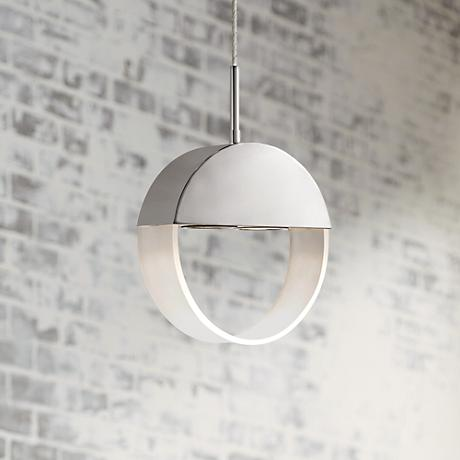 "Elan Anello 9 3/4"" Wide Chrome Modern Pendant Light"