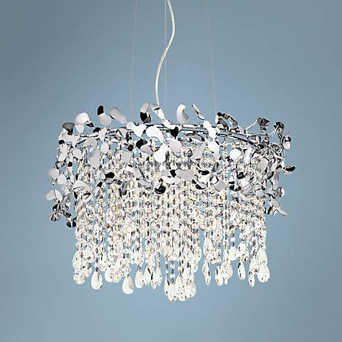 "Elan Alexa 23 1/2"" Wide Chrome Pendant Light"