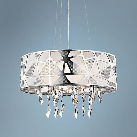 "Elan Angelique 23 1/2"" Wide Chrome Pendant Light"