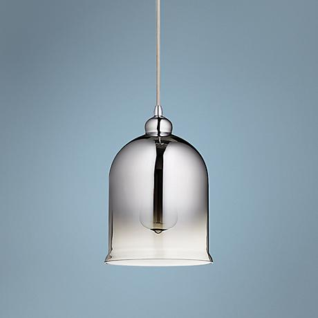 "Calia 7 1/4"" Wide Chrome and Glass Mini Pendant"