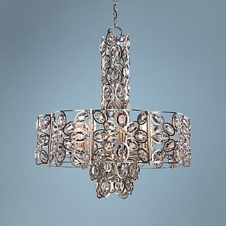 "Crystorama Sterling 24"" Wide Twilight 8-Light Chandelier"