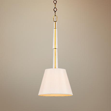 "Crystorama Lawson 10"" Wide Aged Brass Mini Pendant"