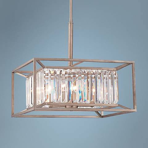 "Linares 19"" Wide Aged Platinum 4-Light Pendant"