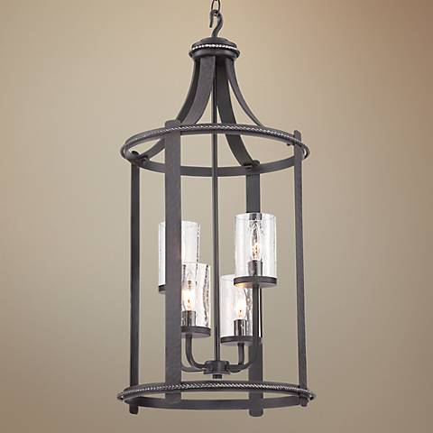 "Palencia 15""W Pardo Wash 4-Light Lantern Pendant Light"