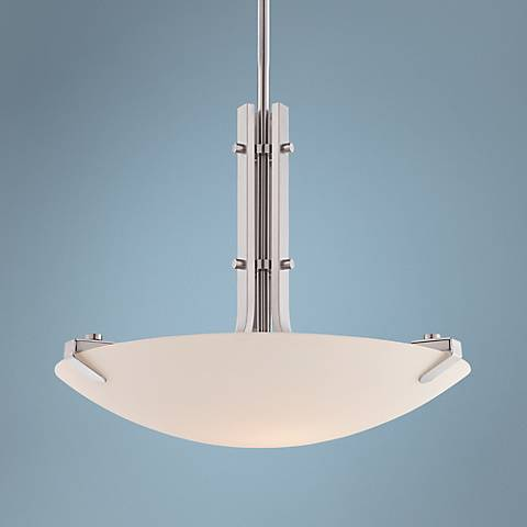 "Archer 20 1/2"" Wide Satin Platinum LED Pendant Light"