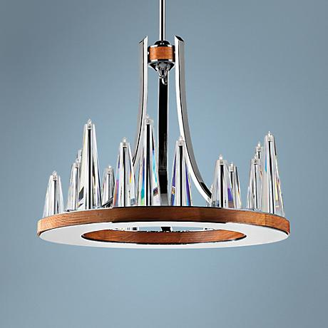 "Eurofase Skyline 21 1/2"" Chrome 15-Light Pendant"