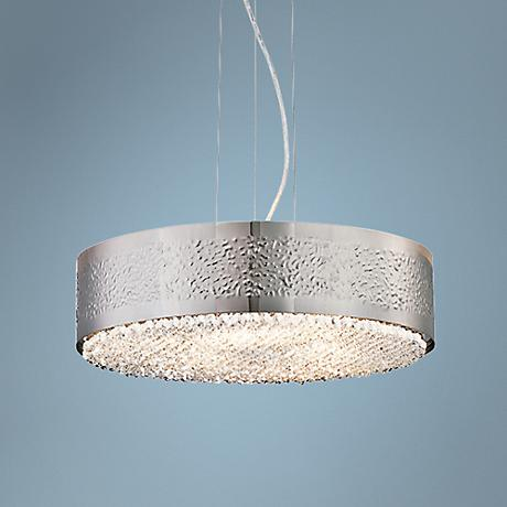"Eurofase Cara 18"" Wide Satin Nickel Pendant Light"