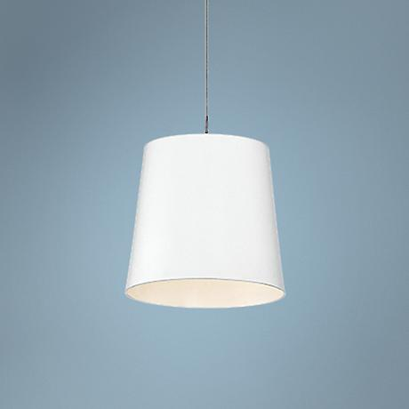 "Eurofase Borto 6"" Wide White LED Mini Pendant Light"