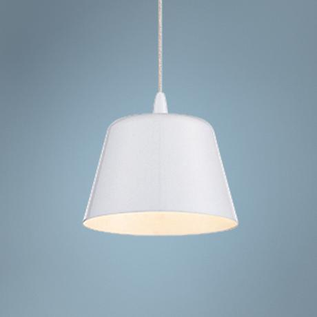 "Eurofase Bowes 4 3/4"" Wide White LED Mini Pendant Light"
