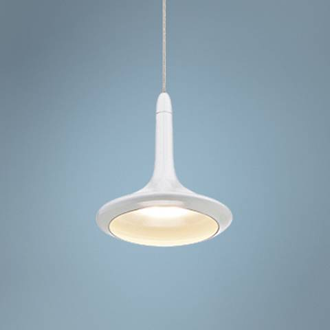 "Eurofase Knoll 4 3/4"" Wide White LED Mini Pendant Light"